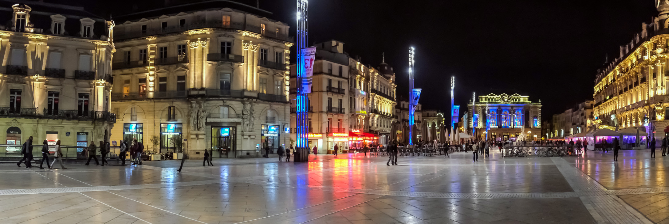 Restoration of the place de la Comédie to Montpellier